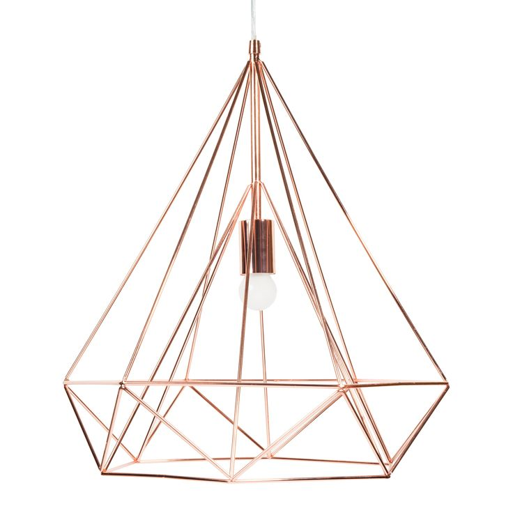 Suspension en métal D 45 cm DIAMOND COPPER