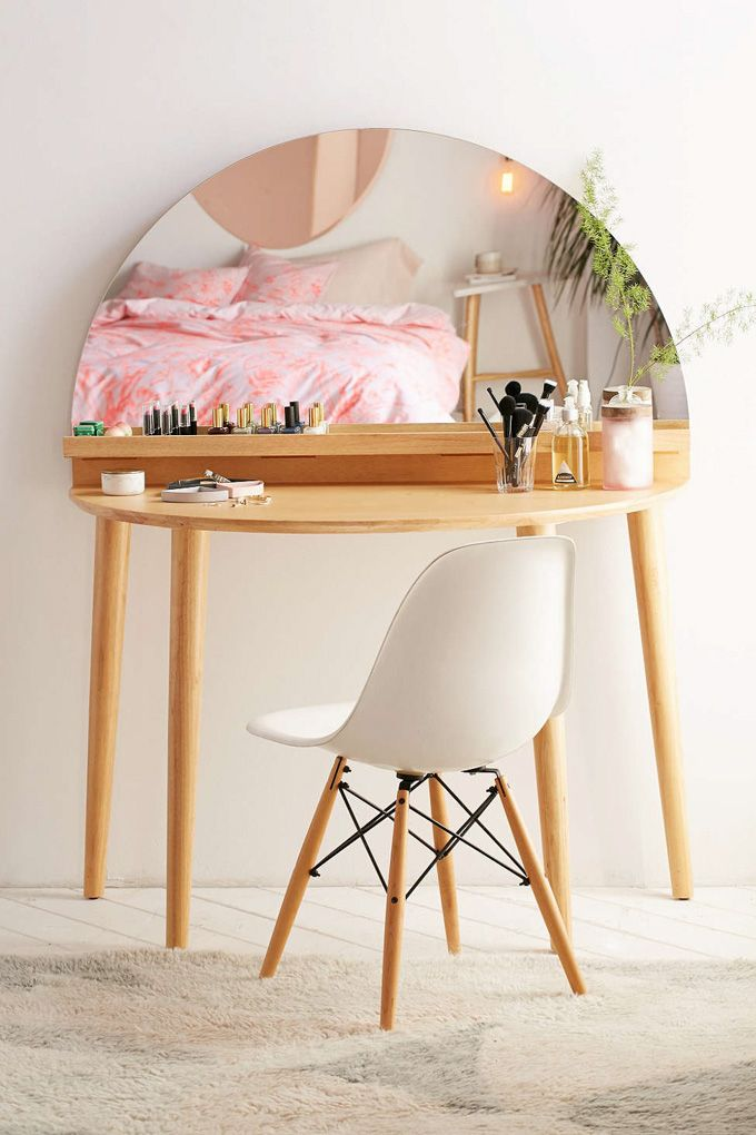 The perfect mid century modern vanity #makeuptable https://emfurn.com/collections/mid-century-modern