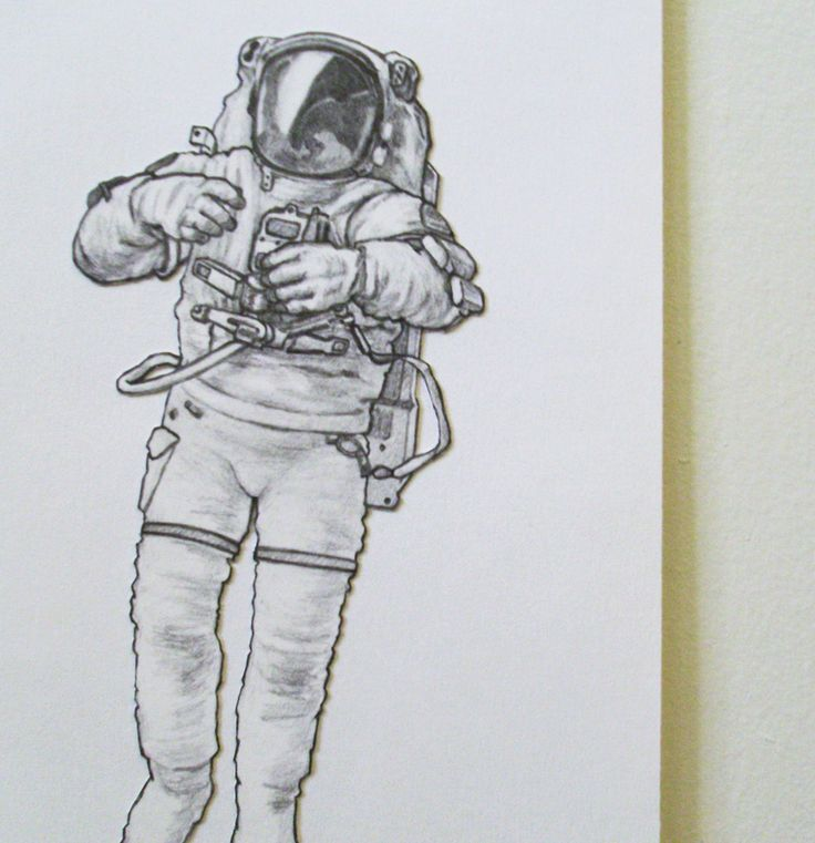 astronaut space drawing - photo #20