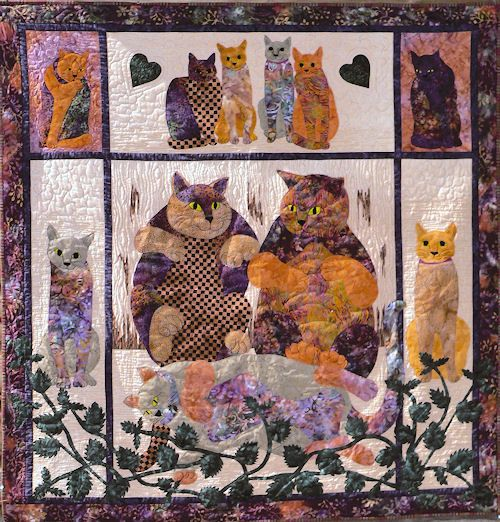Catnipped by June Jaeger.  Pattern at Log Cabin Quiltworks.