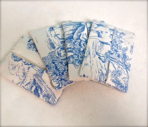 Pocket tissue cases set of 4  toile de jouy fabric by Kirstyflo, €40.00