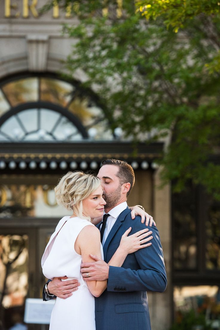 Modern minimalist Los Angeles wedding at The Culver Hotel | Southern California wedding venues (Viera Photography)