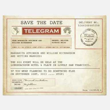 70th Birthday Party Invitation telegram