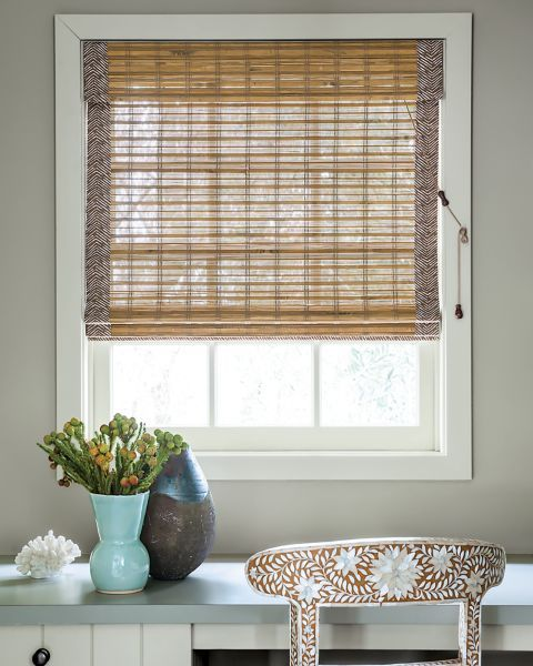 1000 images about wonderfull window treatments in woven for Natural woven flat fold shades