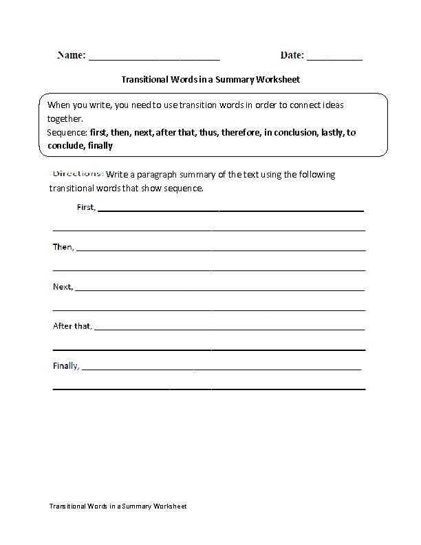 Best 25+ Transition words worksheet ideas on Pinterest Paragraph - resume writing worksheet