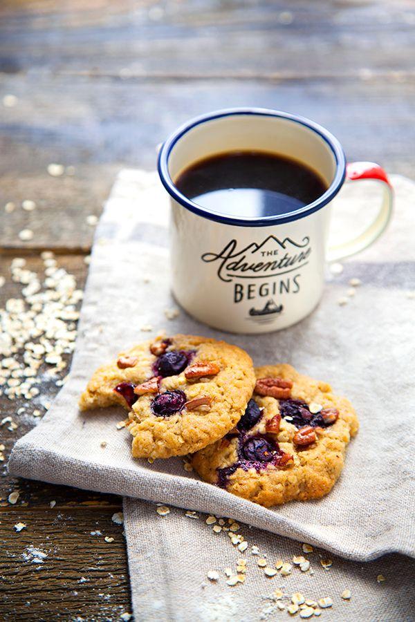 Cookies aux myrtilles, noix de pécan et sirop d'érable - 100 % Végétal