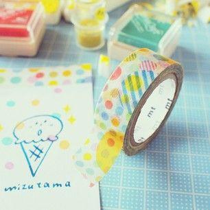 Instagram photo by mizutamahanco - dot   めんけぇ  #マスキングテープ