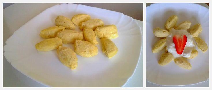 Zdrowo i dietetycznie. Moja rzeczywistość: Kluseczki serowe z bananem i pierwsze wspólne śniadanie ;)