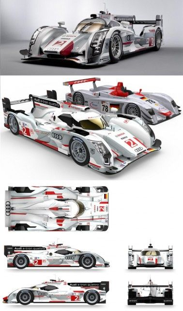 Audi R18 e-tron quattro contests the 12-hour race at Sebring