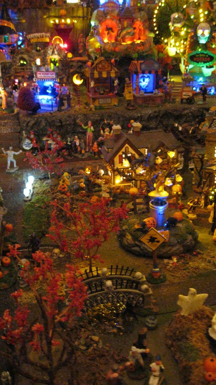 Department 56 dickens village display ideas - Lemax And Dept 56 Halloween Village