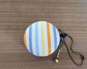 4 cm Macaron munt portemonnee, sieraden zakje; strepen, gestreepte munt portemonnee, reizen sieraden geval