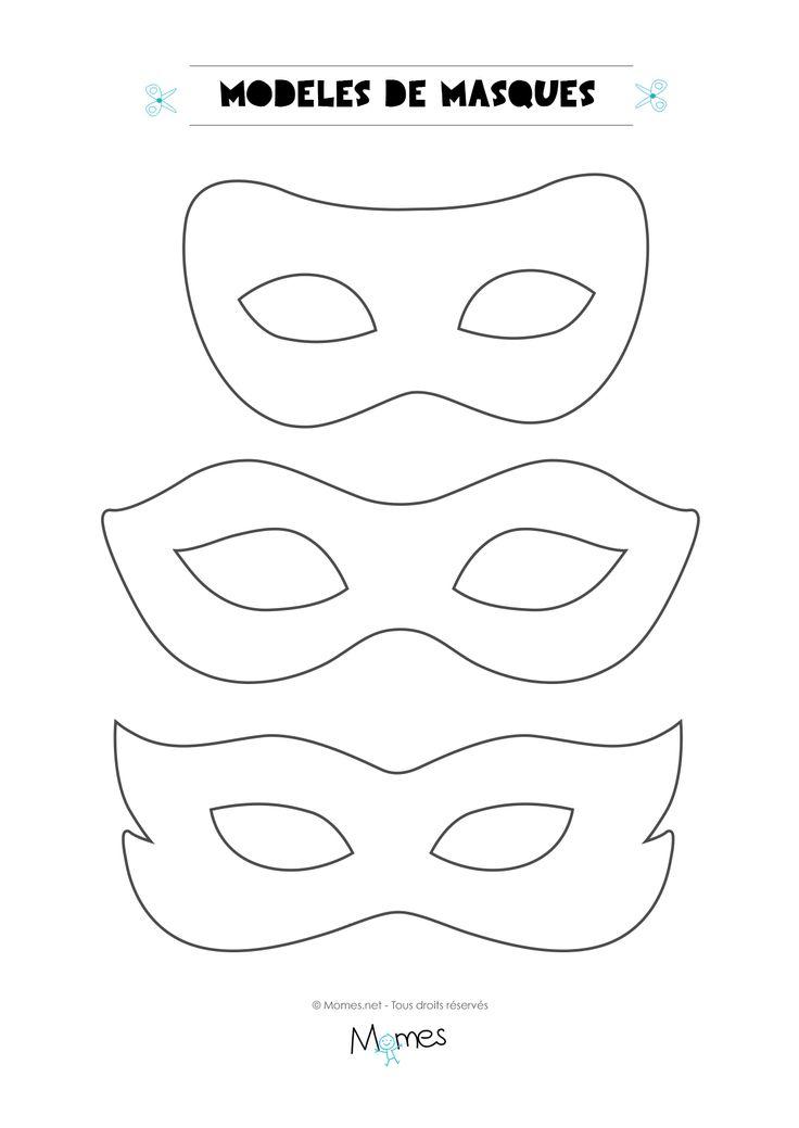 Voici 6 modèles de masques à imprimer pour le carnaval. Les gabarits de ces masques sont pile à la bonne taille pour les yeux des enfants !