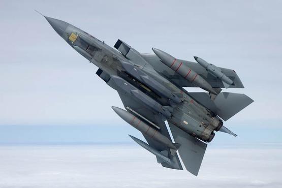 RAF Panavia Tornado GR4 of 31 Squadron with Stormshadow. Sept 2008.