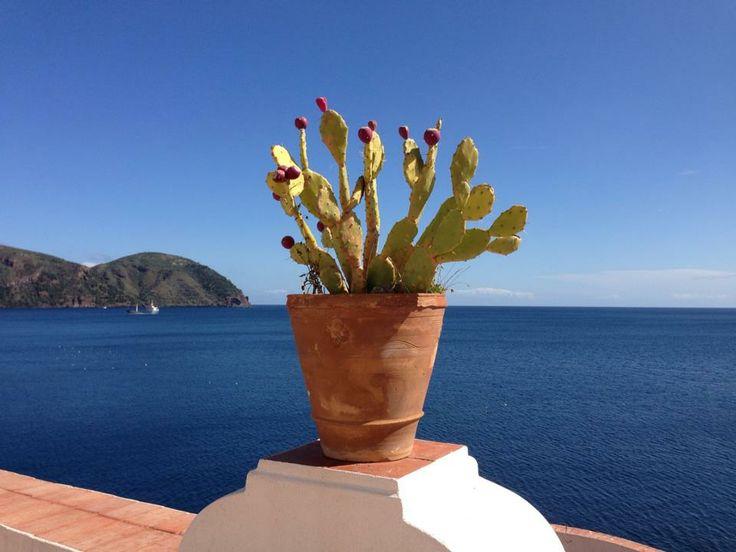 #carascohotel #deepblue #lipari #aeolianislands #blue #sky #sea #nature #cactus
