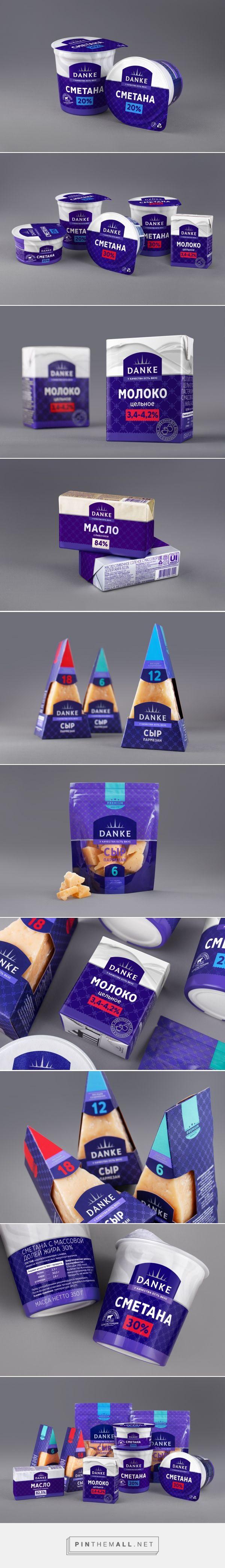 Danke Dairy packaging design by AIDA Pioneer Group - http://www.packagingoftheworld.com/2017/10/danke-dairy-products.html