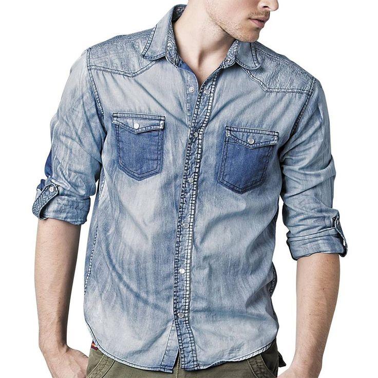 camisas de mezclilla para hombre - Buscar con Google