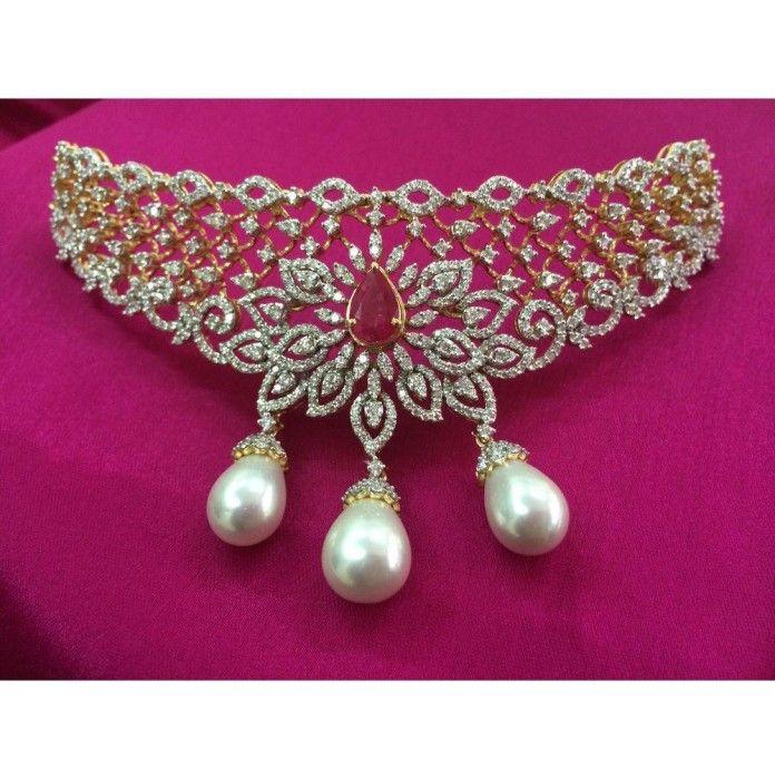 Gold Diamond Necklace From Kothari Jewellery