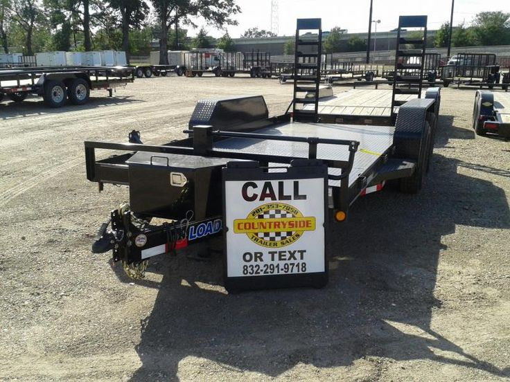 2017 Load Trail 80 X 12 BOBCAT STAND UP RAMPS TRAILER Equipment Trailer