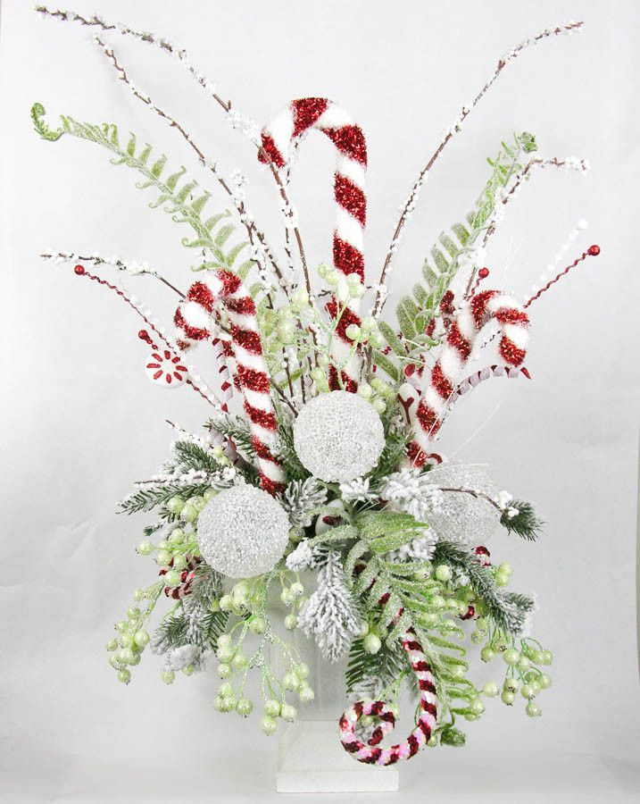 Candy Cane Centerpiece | Candy canes, Abundance and ...