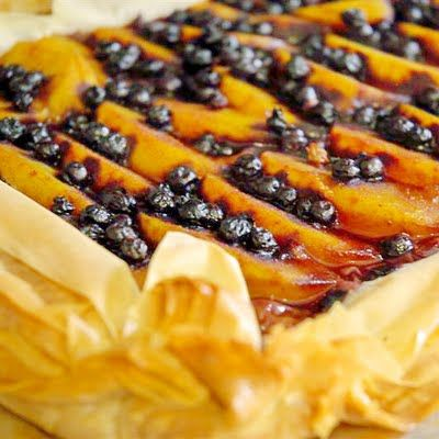 Blueberry Peach Phyllo Gallette - Rock Recipes -The Best Food  Photos from my St. John's, Newfoundland Kitchen.