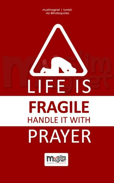 Life is fragile. Handle it with prayer.