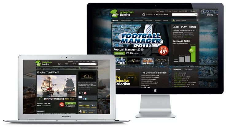 Green Man Gaming  E-commerce platform design for PC game download resale site.  http://www.greenmangaming.com/