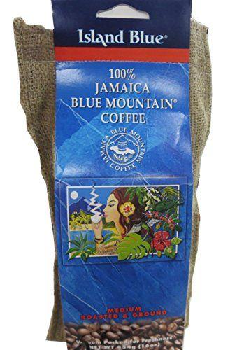 Island Blue -100% Jamaica Blue Mountain Coffee - Grounds (2-16oz bags)