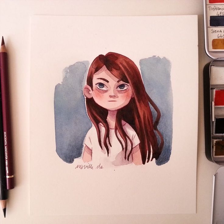 """""""Emma Stone. Because People say my Girls often looks like her. I didnt know her before and i googeled her. Well sometimes maybe. i decided to draw her for…"""""""