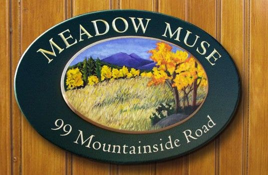 Meadow Muse House Name Sign | Danthonia Designs