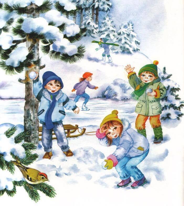 iarna imagini de colorat