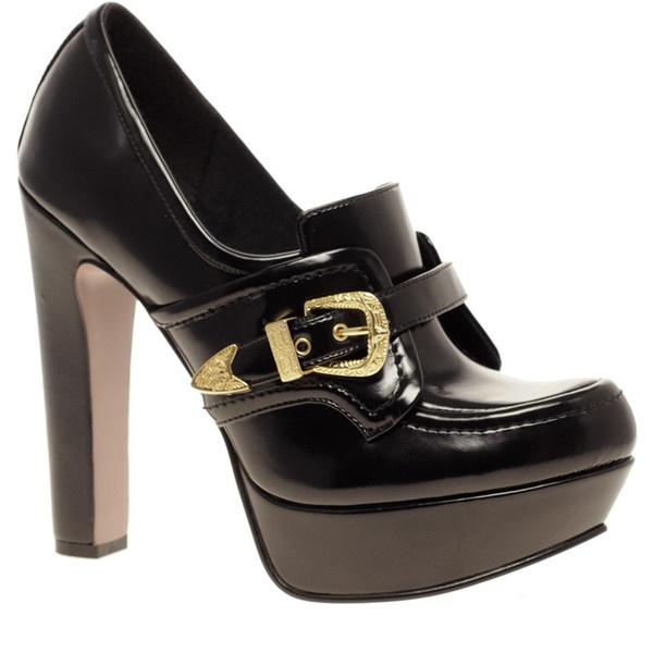 .: Vamp Buckle, Fashion, Style, High Vamp, Platform Shoes, Black Pumps, Prince High