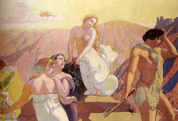 'Psyche Eltern verzichten sie auf den Gipfel des Berges' von Denis Maurice (1870-1943, France)