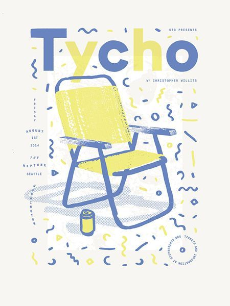 Tycho chair illustration magazine cover