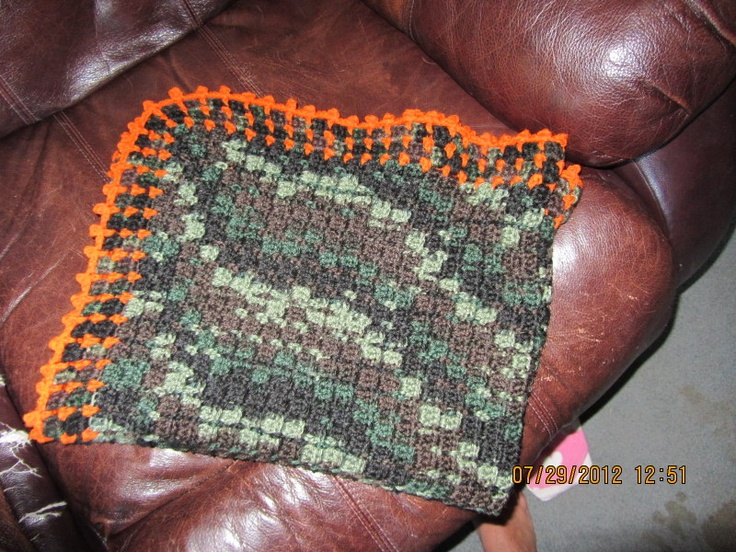 Baby camo crochet blanket Craft Ideas Pinterest Baby ...