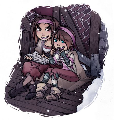Fable 2 - Rose and young female Sparrow