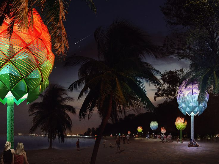 Spark unveils plans for colourful beach huts built from recycled ocean plastic