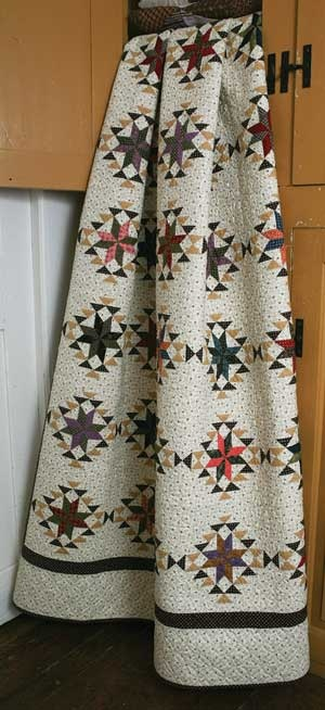 """LEMOYNE HOUSE QUILT KIT click to enlarge Named for an historic Pennsylvania house on the underground-railroad. Achieve a traditional mid-19th-century look with this 55"""" x 63"""" pieced quilt."""