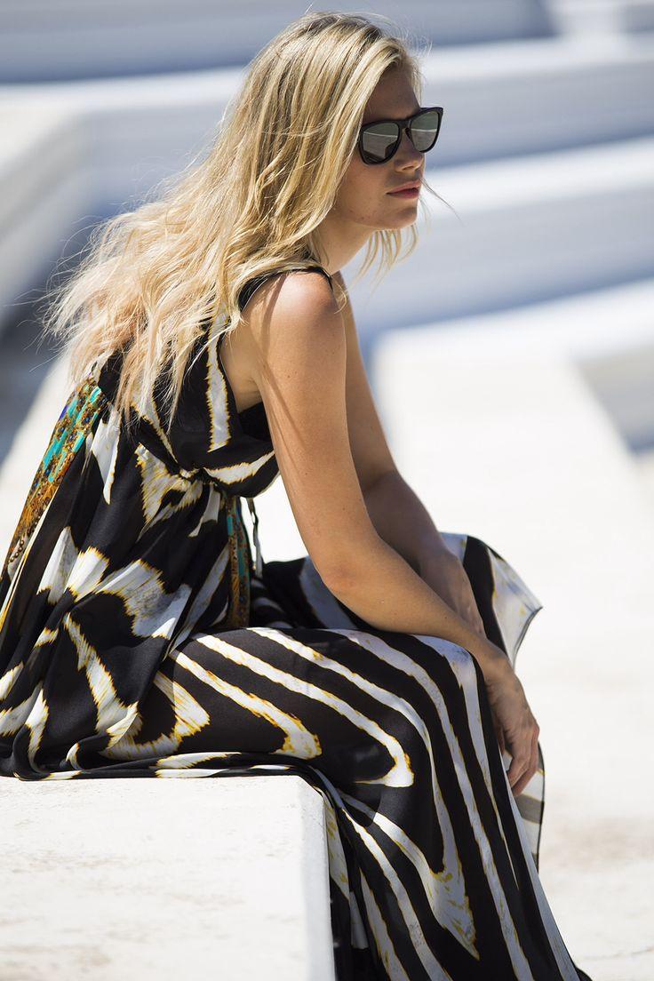 Silk maxi dress. lalicalalica..