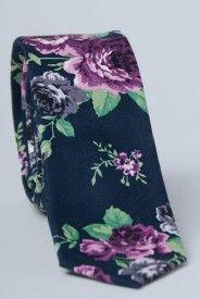 Monet's Gardent Tie - Navy