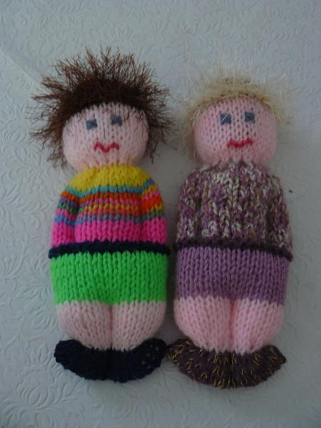 comfort dolls...these are knit, but I bet I could crochet one