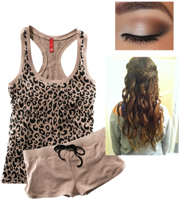 """Cheetah outfit"" by callico32 on Polyvore"