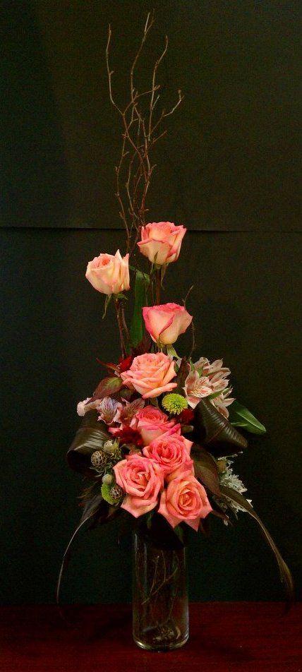 Flowers for decorative line arrangement