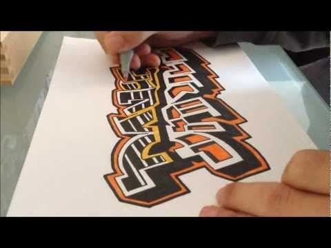 How to draw Graffiti - My Name Daniel - YouTube