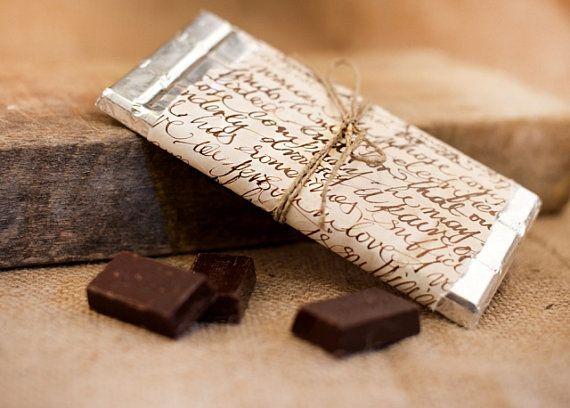 Wedding Gift Wrapping  Chocolate Wrap Decor  by lenagamos.gr