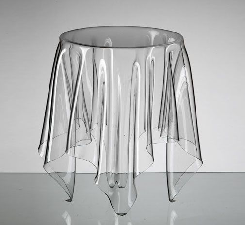 Superb Illusion Table Clear By Essey