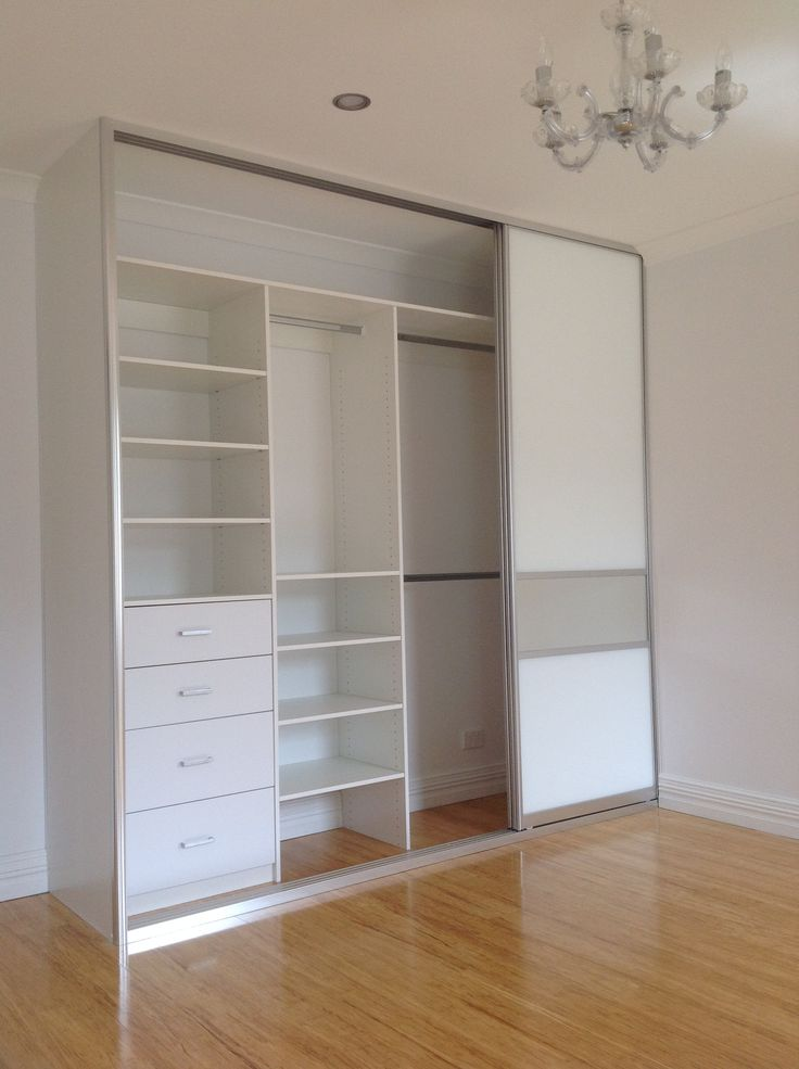 Best 25 small wardrobe ideas on pinterest under the for Built in sliding doors