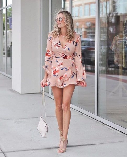 a28d89baa31 Lush Floral Ruffle Romper at Nordstrom