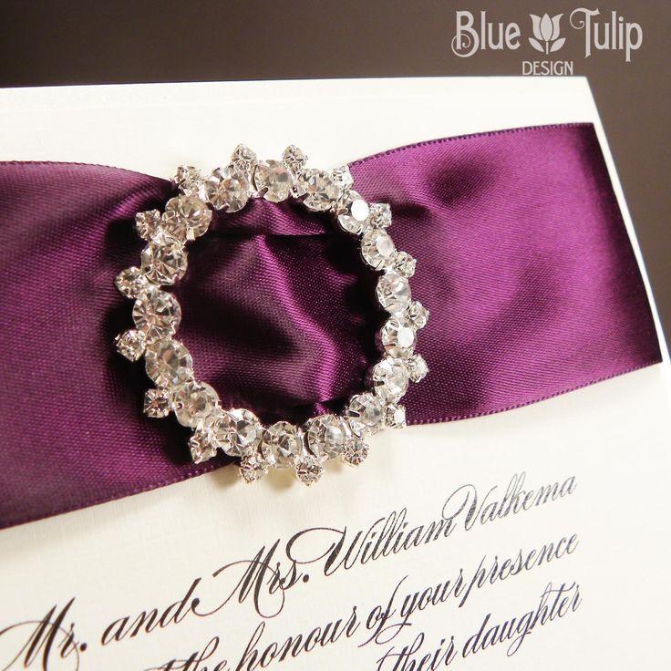 Iced Plum Wedding Invitation By Mybluetulipdesign On Etsy