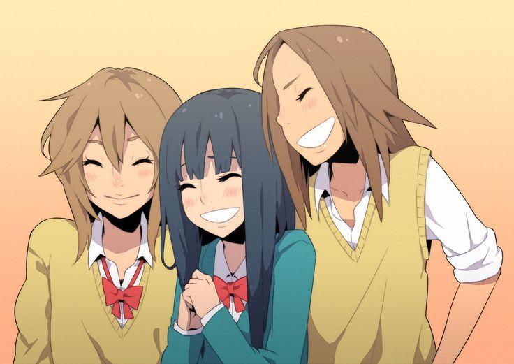 Kimi ni Todoke Ayane, Sawako, and Chizuru. They look so happy (: