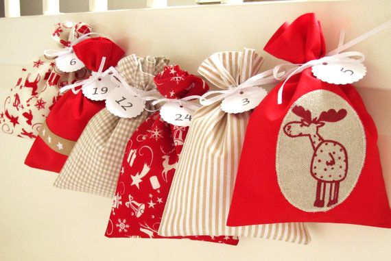 Countdown till Christmas advent calendar bags available at https://www.etsy.com/listing/471599768/countdown-till-christmas-advent-calendar?ref=shop_home_active_1